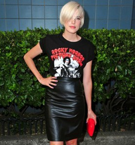 The Amazing Agyness Deyn rocking our Ladies Rocky Horror Picture Show T-Shirt! Red carpet style for just £21.99! We love you Aggy :-)
