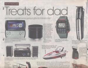 Casio Remote Control Watch in The Birmingham Post 09.06.11