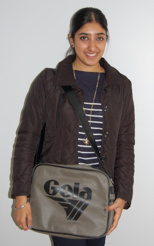 Sunny styles our retro Gola bag