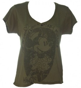 Ladies Minnie Mouse Vintage Low V-Neck T-Shirt £27.99