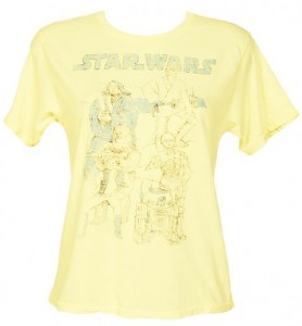 Ladies Yellow Star Wars Oversized Crop T-Shirt £24.99