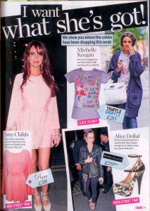 Michelle Keegan Charlie Chalk T-Shirt Get The Look in Reveal 14.06.11