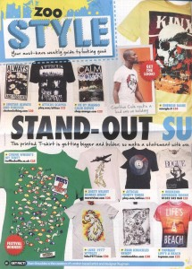 Chunk 'Where Is My Tent' T-Shirt in Zoo magazine 24.06.11