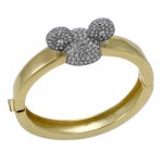 Gold Plated Swarovski Mickey Mouse Ears Bangle from Disney Couture