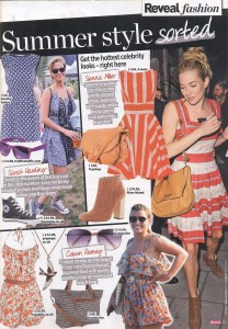 Purple Wayfarer Sunglasses in Reveal Magazine 12th July 2011