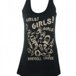 The 'Girls Girls Girls' vest first worn by Keith Richards of the Rolling Stones.