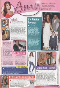 'I Heart The 80's' T-Shirt in Amy Childs' column in New! Magazine 20.Sept.11