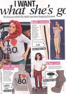 """Leigh-Anne from Little Mix wearing """"I Heart 80s"""" Hoodie in Reveal 03.01.12"""