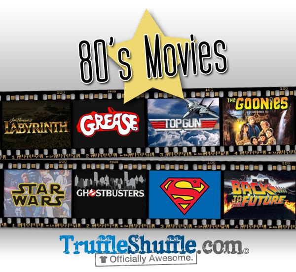 retro, 80's, movies t shirts from truffleshuffle.co.uk