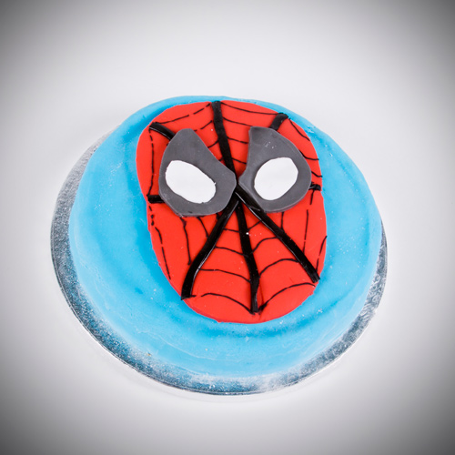 Spiderman retro cake