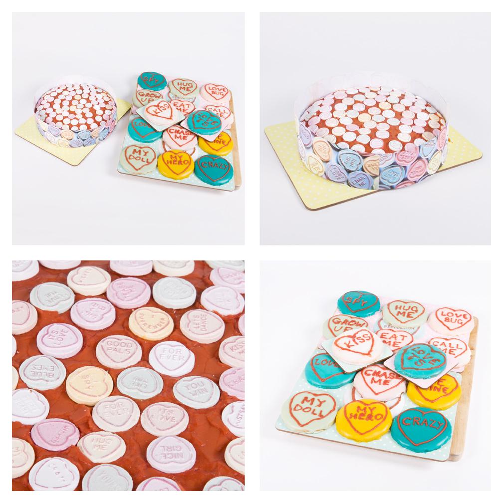 Love hearts cake, love hearts cookie, love hearts baking