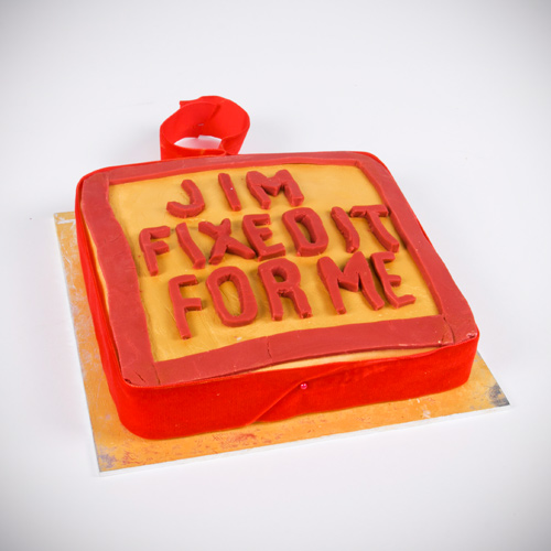 Jim'll fix it retro cake