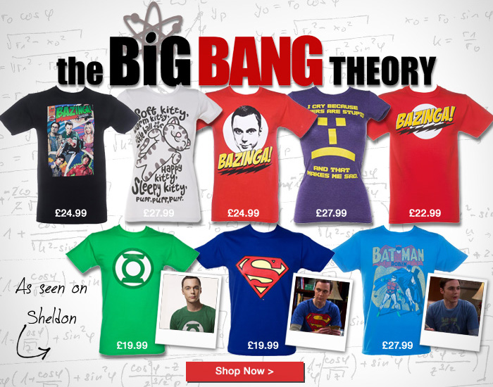 Big bang theory t shirts at truffleshuffle