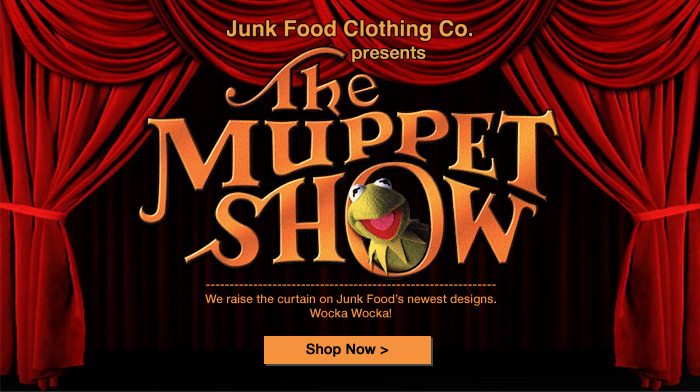 Muppets t shirts from junk food