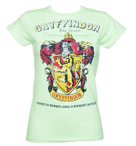 Ladies Teal Harry Potter Gryffindor Team Quidditch T-Shirt