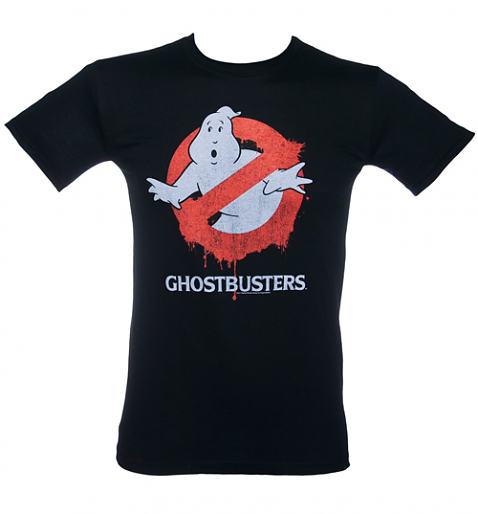 Mens Ghostbusters Dripping Logo T-Shirt from Fame and Fortune