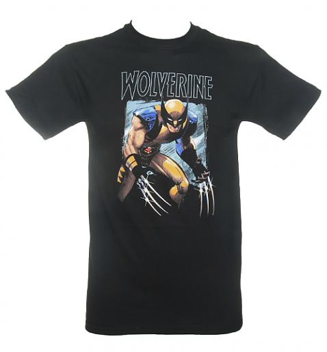 Men's Black Wolverine Ready To Attack Marvel T-Shirt £17.99