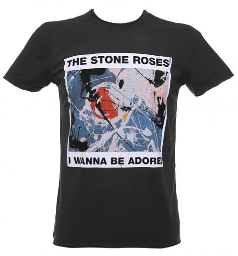Men's Charcoal Stone Roses Wanna Be Adored T-Shirt £25.00