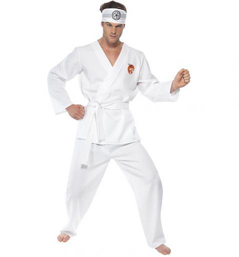 Men's Daniel San Karate Kids Fancy Dress Costume