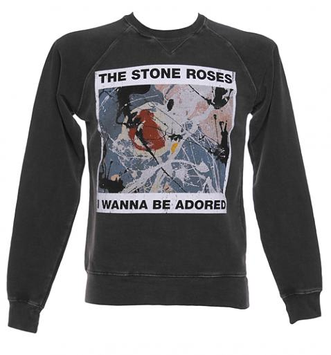 Men's Stone Roses Wanna Be Adored Charcoal Sweater £45.00