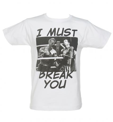 Men's White Rocky I Must Break You Fight T-Shirt from To The Black