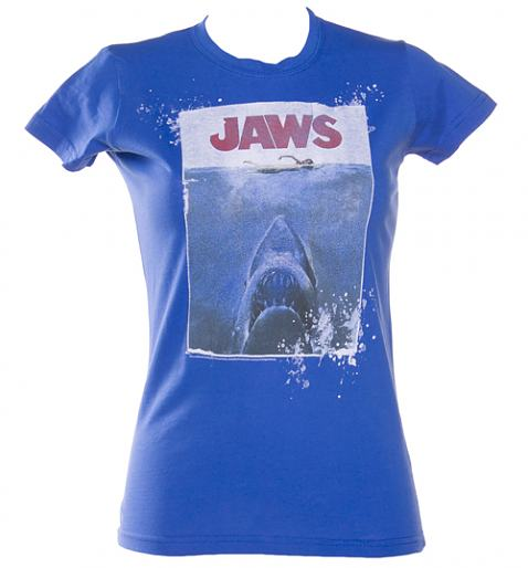 Ladies Jaws Movie Poster T-Shirt
