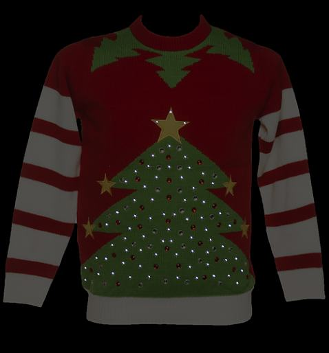 Light up the holiday season by selecting from our wide range of LED lit Christmas jumpers and sweatshirts. We have light up jumpers for kids, women, men and even pet dogs.