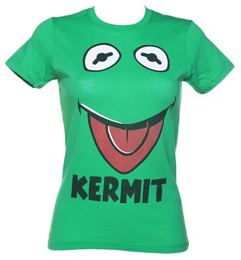 Ladies Green Kermit Face Muppets T-Shirt £22.99