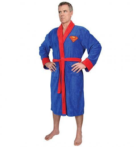 Men's Blue Fleece Superman Logo Dressing Gown £24.99