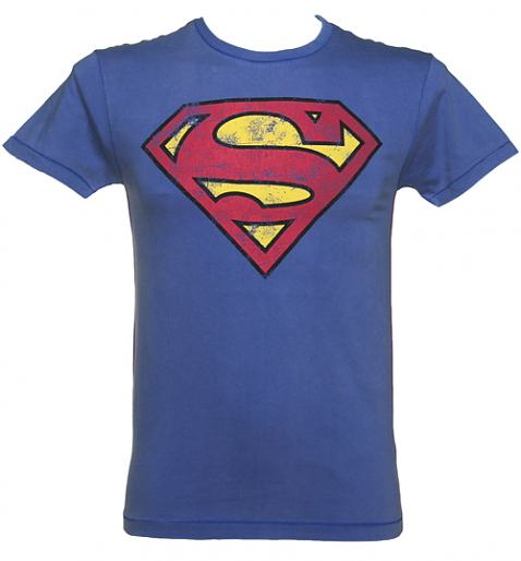 Men's Blue Washed Superman Logo T-Shirt £19.99 (also available for ladies!)