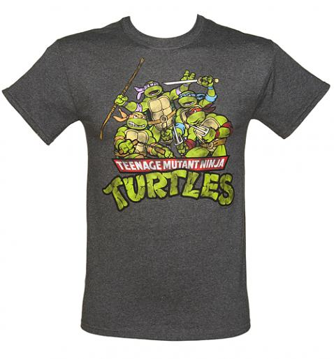 Men's Grey Marl Teenage Mutant Ninja Turtles Group T-Shirt £25.99