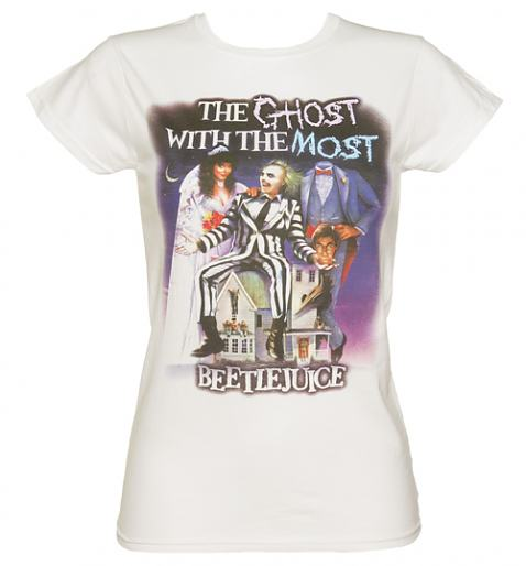 Ladies Ghost With The Most Beetlejuice T-Shirt £22.99 (also available for men)