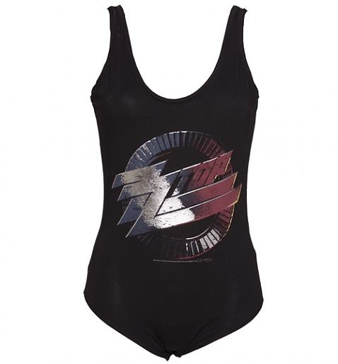 Ladies Black ZZ Top Body Suit from Amplified Vintage