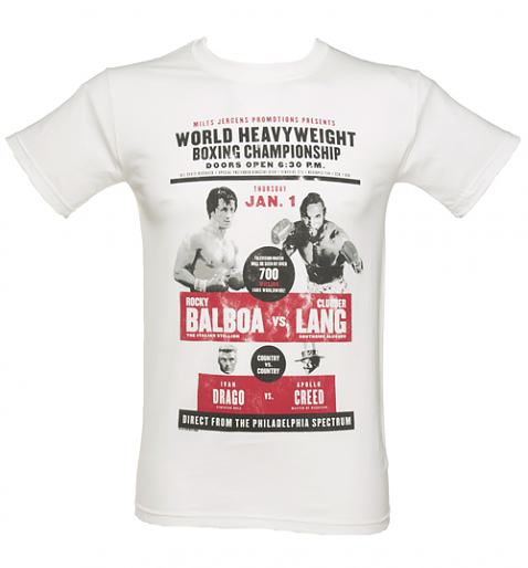 Men's Rocky Balboa vs Clubber Lang T-Shirt £19.99 (also available for ladies)