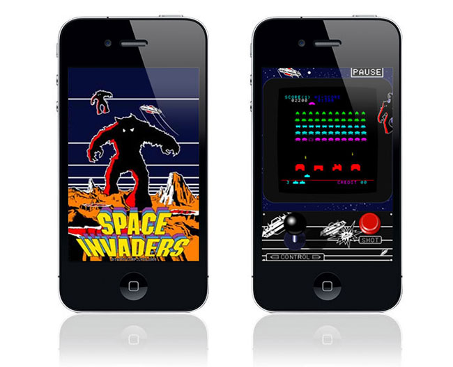 Space Invaders on a Smartphone