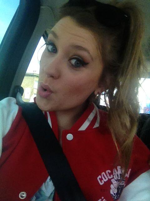 Ella Henderson spotted in our Ladies Coca-Cola University Varsity Jacket £39.99