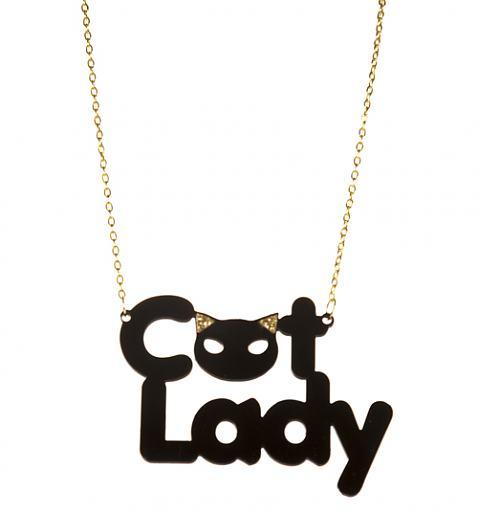 Kitsch Cat Lady Necklace £9.99