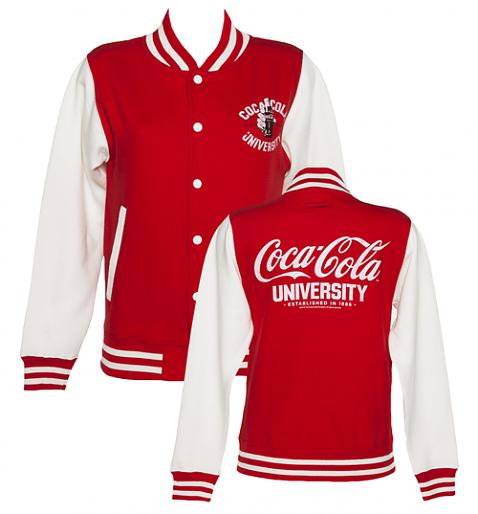 Ladies Coca-Cola University Varsity Jacket £39.99 (also available for men!)