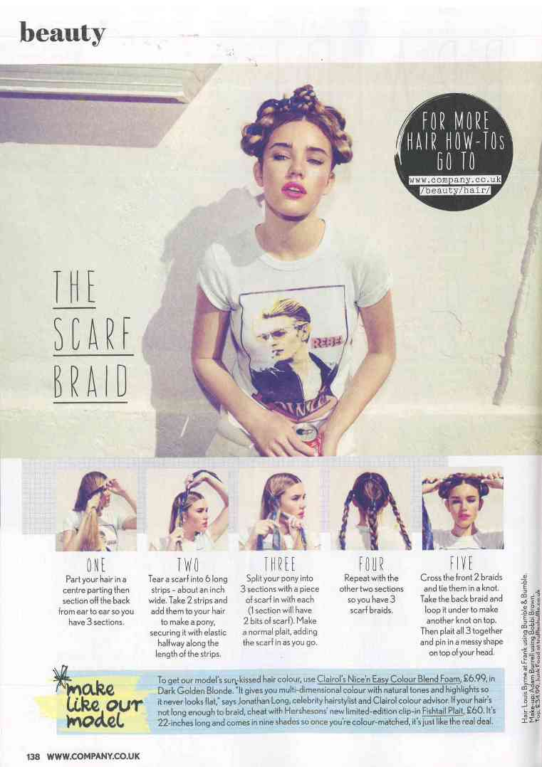 The Scarf Braid As Featured In Company Magazine