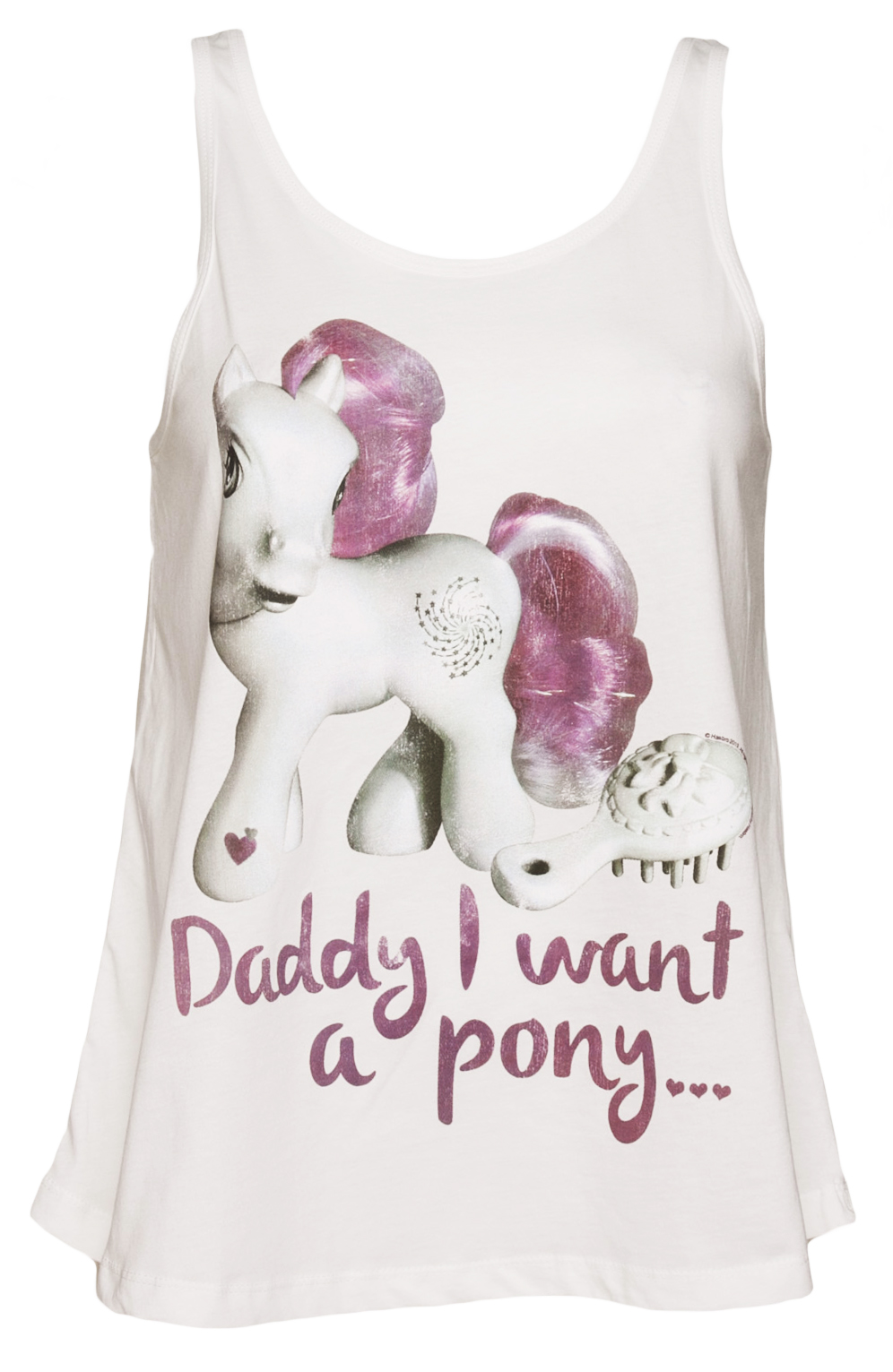 Ladies Daddy I Want A Pony Swing Vest £19.99