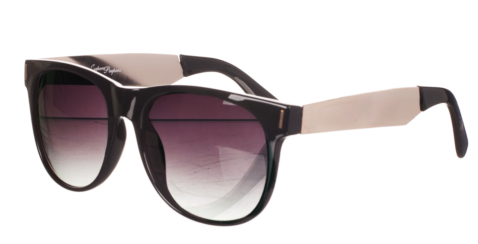 Retro Black And Metal Vincent Wayfarer Sunglasses from Jeepers Peepers £16.99