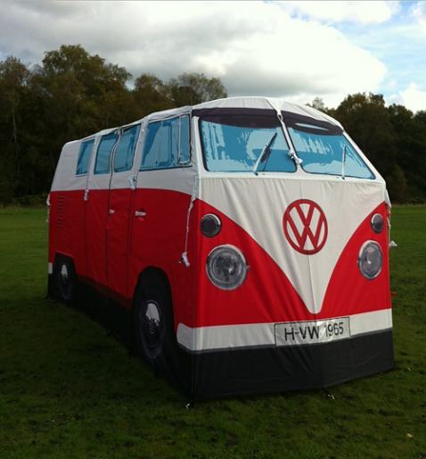 Retro Red VW Campervan Exact Scale Replica Tent £299.99