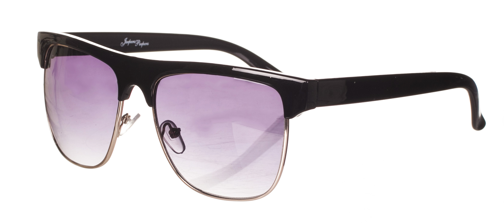 Black Solid Half Frame Wayfarer Sunglasses from Jeepers Peepers £12.99