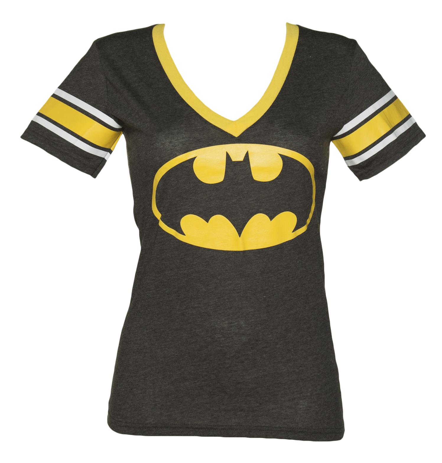 Ladies Black Batman V-Neck T-Shirt £34.99