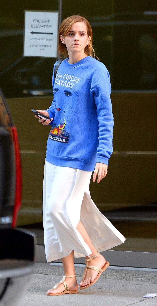 Emma Watson Wears Our  Unisex Blue F. Scott Fitzgerald The Great Gatsby Novel Sweatshirt £54.99