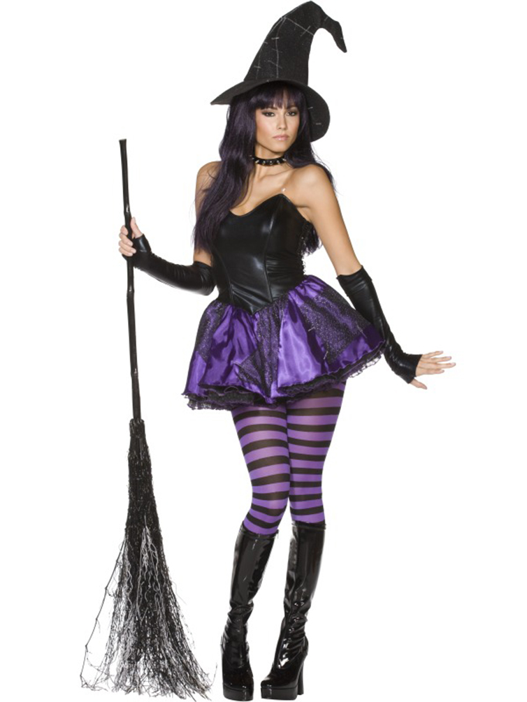 Ladies Rebel Toons Wicked Witch Fancy Dress Costume £29.99
