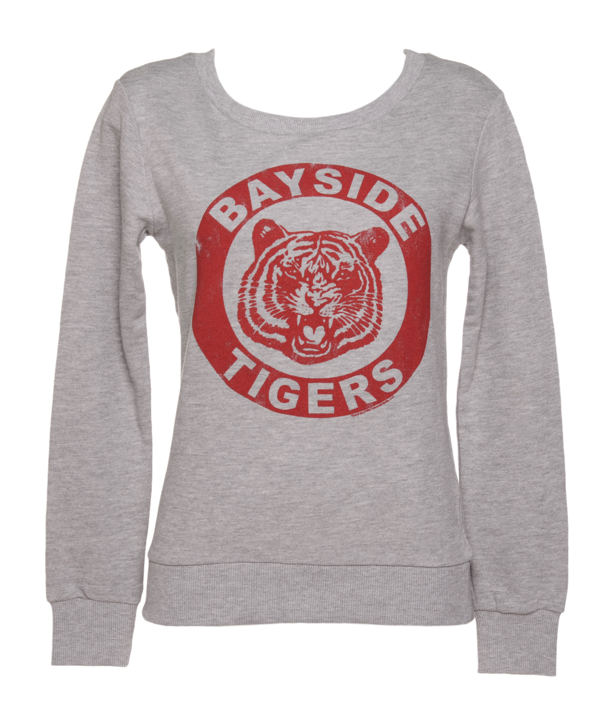 Ladies Grey Saved By The Bell Bayside Tigers Sweater £29.99