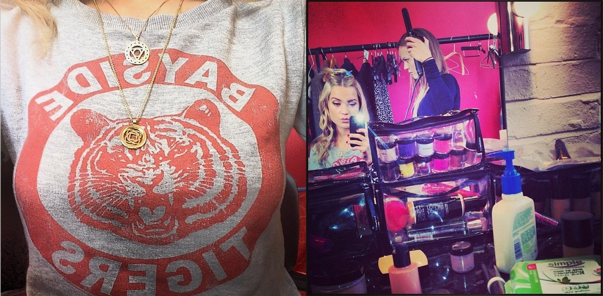 Laura Whitmore Wears Our Ladies Grey Saved By The Bell Bayside Tigers Sweater £29.99