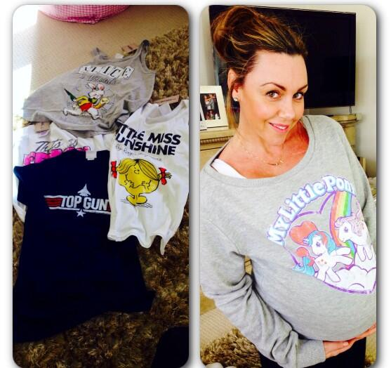 Michelle Heaton Wears Our  Ladies My Little Pony Retro Heart Sweater