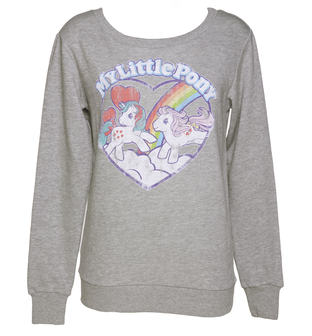 Ladies My Little Pony Retro Heart Sweater from TruffleShuffle £29.99